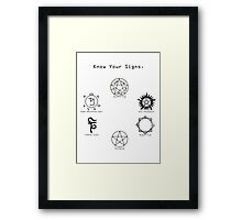 Know Your Signs Framed Print