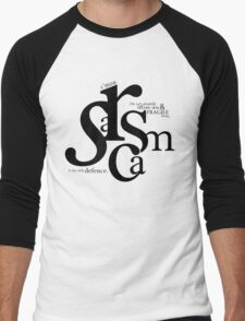"""Sarcasm is my only defense"" - Stiles Stilinski Men's Baseball ¾ T-Shirt"