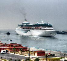 Cruiseship in Ensenada, Mexico by Kevin Gallagher