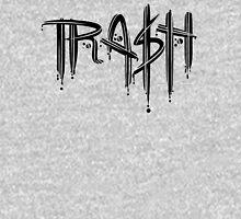 Trash Black Font T-Shirt