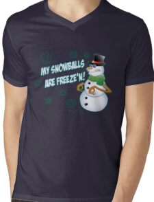 Frozen Snowballs Mens V-Neck T-Shirt