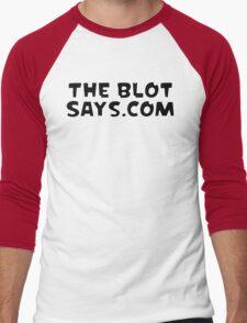 The Blot Says... White & Black Men's Baseball ¾ T-Shirt