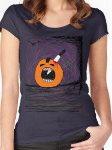 """ psychotic break Pumpkin Carving""  Halloween Tia Knight Women's Fitted Scoop T-Shirt"