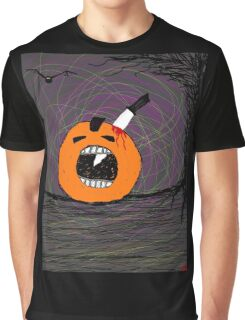 """ psychotic break Pumpkin Carving""  Halloween Tia Knight Graphic T-Shirt"