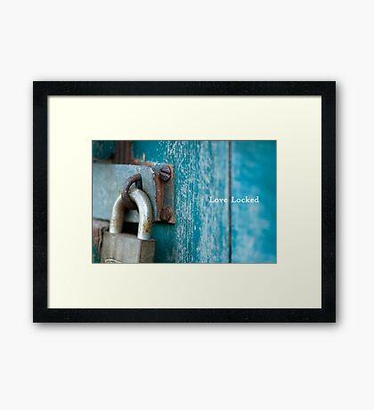 Love Locked Framed Print
