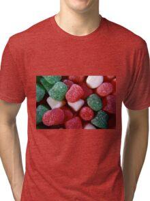 Christmas Spice Drops Candy Tri-blend T-Shirt