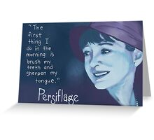 Persiflage - Dorothy Parker Greeting Card
