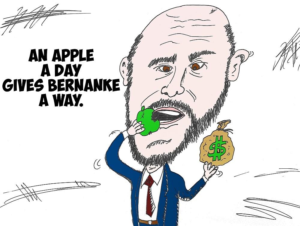 US Fed Chairman Ben Bernanke caricature by Binary-Options
