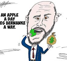 US Fed Chairman Ben Bernanke caricature by Binary-Options