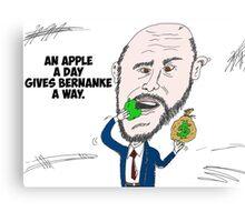 US Fed Chairman Ben Bernanke caricature Canvas Print