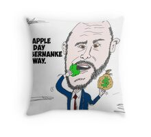 US Fed Chairman Ben Bernanke caricature Throw Pillow