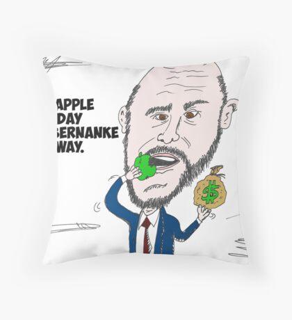 US Fed Chairman Ben Bernanke caricature Throw Pillow