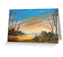 Evening Duck Hunters Greeting Card