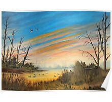 Evening Duck Hunters Poster