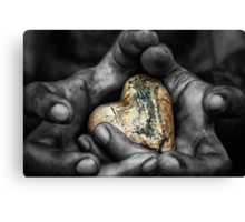 my hands, your hard Canvas Print