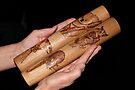 Pyrography: Rhythm Sticks Australian Style by aussiebushstick