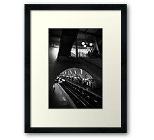 Travel BW - Paris Cite Metro Station Framed Print