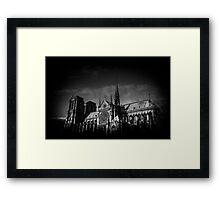 Travel BW - Paris Notre Dame Framed Print