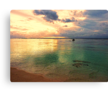 Golden lagoon Canvas Print