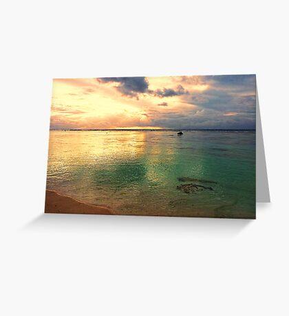 Golden lagoon Greeting Card