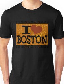 I love Boston - Vintage Boston Unisex T-Shirt
