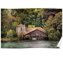 Boat House in the Lake District Poster