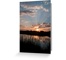 God Rays in the wetlands Greeting Card