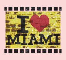 I love Miami - Vintage Miami Baby Tee