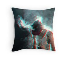 Smoking Rapper Throw Pillow