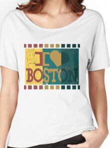 I love (heart) Boston - Vintage Boston Women's Relaxed Fit T-Shirt
