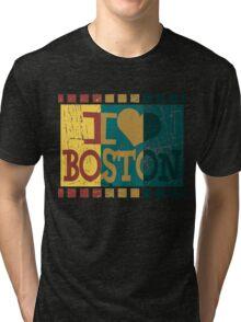 I love (heart) Boston - Vintage Boston Tri-blend T-Shirt