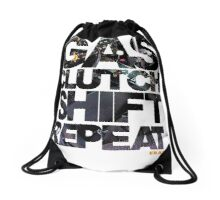Gas Clutch Shift Repeat Drawstring Bag