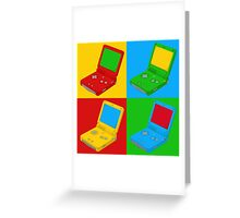 Game Boy Pop Art Greeting Card