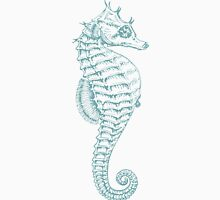 Tropical Seahorses (Seahorse Pattern) - Blue Unisex T-Shirt