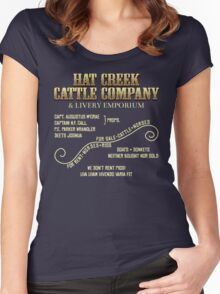 Hat Creek Cattle Company Sign Women's Fitted Scoop T-Shirt