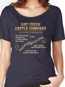 Hat Creek Cattle Company Sign Women's Relaxed Fit T-Shirt