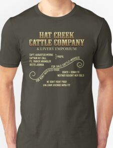 Hat Creek Cattle Company Sign T-Shirt