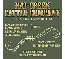Hat Creek Cattle Company Sign Photographic Print