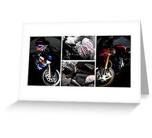 Classic Motorbike Collage # 2 Greeting Card