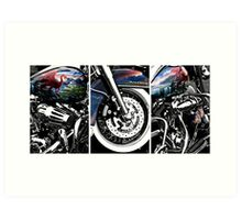 Painted Harley Collage Art Print