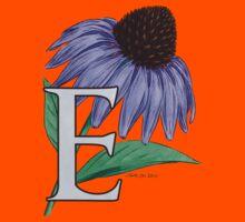 E is for Echinacea - full image Kids Tee