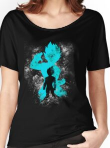 super saiyan blue vegeta grunge Women's Relaxed Fit T-Shirt
