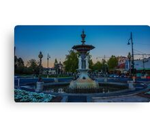 Alexandra Fountain at Dusk - Bendigo, Victoria Canvas Print