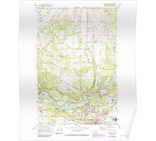 USGS Topo Map Washington State WA Dartford 240784 1973 24000 Poster