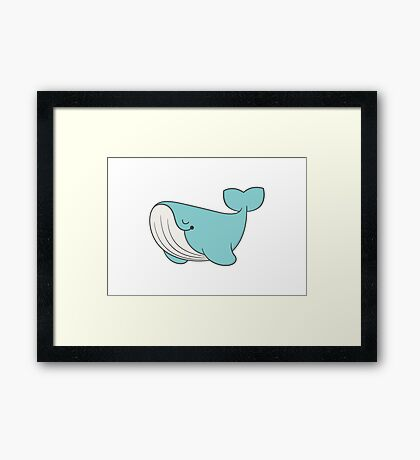 lou, the whale Framed Print