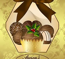 Luxury Chocolate Christmas Greeting Card by Moonlake