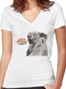 Raise your Koala well Women's Fitted V-Neck T-Shirt