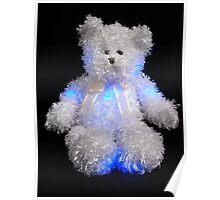 Blushing Blue Bear Poster