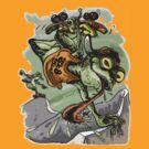 Skateboarding Frog Sk8 by MudgeStudios