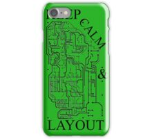 Keep Calm & Layout iPhone Case/Skin